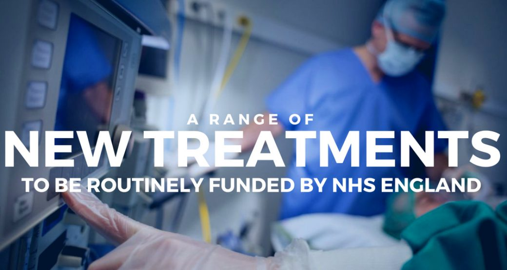 14 new treatments to be routinely funded by NHS England